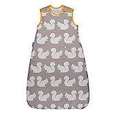 Grobag Anorak Kissing Squirrels 1.0 Tog Sleeping Bag - 0-6 Months