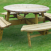 Zest 4 Leisure Rose Picnic Table