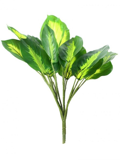 buy artificial 35cm dieffenbachia plug plant from our. Black Bedroom Furniture Sets. Home Design Ideas