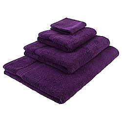Tesco Hygro 100% Cotton Face Cloth, Berry