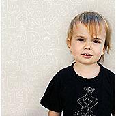 Graham & Brown Pooh 123 Wallpaper - Beige