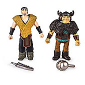 How To Train Your Dragon 2 Viking Warriors - Eret Vs. Snotlout Figures