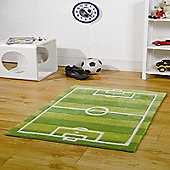 Kiddy Play Football Pitch Green 70x100 cm Rug