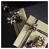 Tesco Ribbon & Bow Accessories, Gold. 8 Pack