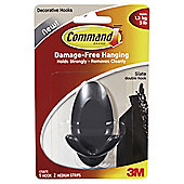 Command Slate Double Hook 1pk
