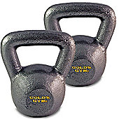 Gold's Gym 2 x 4kg Kettlebell Cast Iron