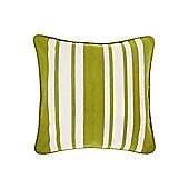 Linea Stripe Cotton Cushion, Green