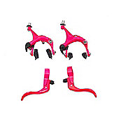 UH Road Dual Pivot Callipers & Brake Levers Fixie in Pink