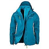 Bracken Extreme Womens 3 in 1 Waterproof Jacket - Blue