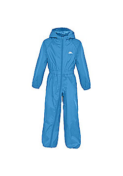 Trespass Button All In One Waterproof Rain Suit - Blue