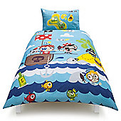 Tesco Kids Pirates Single Duvet Set