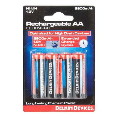 Delkin DD/AA4PKR29 2900 mAh AA Rechargeable Batteries