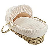Clair de Lune Honeycomb Palm Moses Basket - Cream