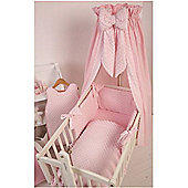 Clair De Lune Dimple Rocking Cradle Crown Drape and Rod Set in Pink
