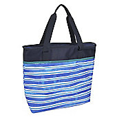 Family Tote Cool Bag - Navy Stripe