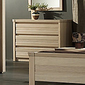 Sleepline Mundo 3 Drawers Chest - Grey Mat Lacquered