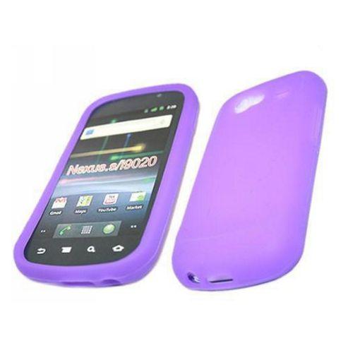 Silicone Case - Samsung Google i9020 Nexus S (Purple)