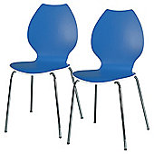 Candy Pair Of Chairs White / Blue