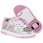 Heelys Split Silver/Pink Kids Heely Shoe - Silver