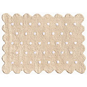 Lorena Canals Galleta Beige Children's Rug - 120 cm W x 160 cm D (3 ft 11 in x 5 ft 3 in)
