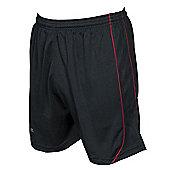 Precision Mestalla Shorts Men'S Football Shorts Training Sportswear - Black & Red