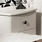Welcome Furniture Kingston 2 Drawer Bedside Chest with Locker - Cream