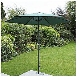 2.7m Crank Shaft Parasol, Green