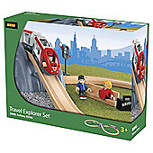 Brio Travel Explorer Wooden Railway Set