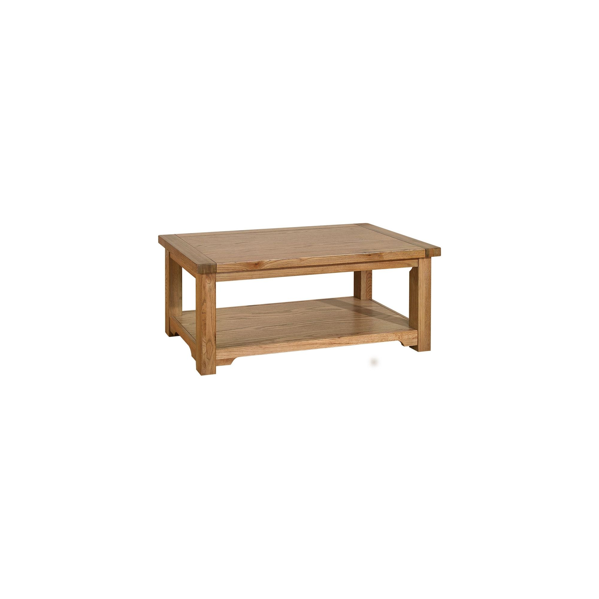 Kelburn Furniture Toulouse Coffee Table in Medium Oak Stain and Satin Lacquer at Tescos Direct