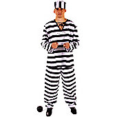 Prisoner - Adult Costume Size: 36-38