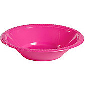 Hot Pink Plastic Bowls - 335ml Plastic, Pack of 20