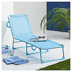 Folding Garden Lounger, Aqua