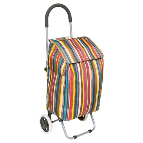 Typhoon Foldable Shopping Trolley, Stripe
