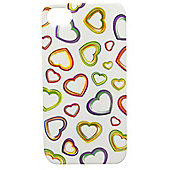 Tortoise™ Look Hard Case iPhone 4/4S Heart Print Multi
