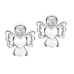 Jo For Girls April Birthstone Guardian Angel Stud Earrings