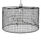 Avis Birdcage Style Ceiling Light Pendant Shade in Gloss Black