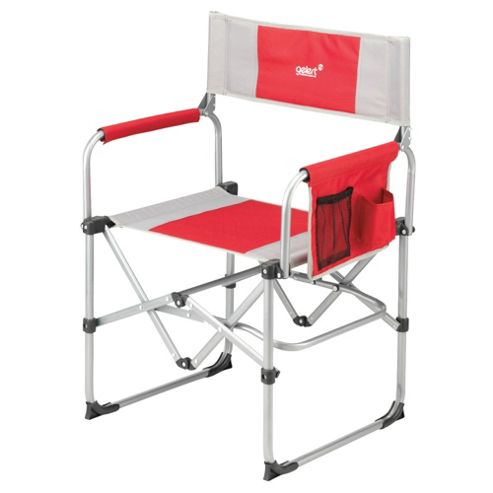 Gelert Milldale Compact Steel Executive Camping Chair, Red