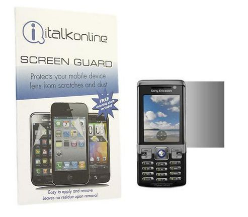 S-Protect LCD Screen Protector & Micro Fibre Cleaning Cloth - Sony Ericsson C702