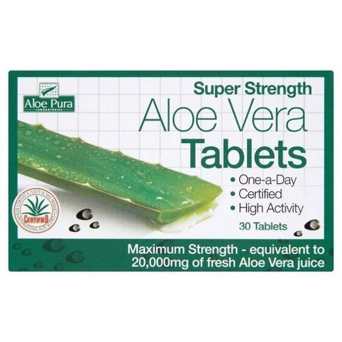 Aloe Pura Aloe Vera Super Strength Tablets 60 Tablets