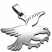 Polished Stainless Steel Flying Eagle Pendant For Men