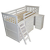 Amani Mid Sleeper Cabin Bed - White