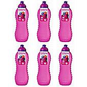 6 Sistema 460ml Twister Squeeze Drinks Bottles, Pink