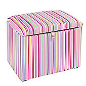 Just 4 Kidz Kids 45cm Toy Box - Candy Stripe