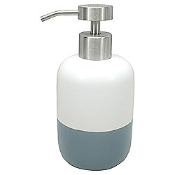 Tesco Blue Dipped Ceramic Soap Dispenser
