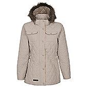 Trespass Ladies Purdey Quilted Jacket - Grey