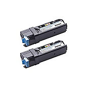 Dell Dual High Capacity Black Toner Cartridge (Yield 3000 Pages Each) for 2150cn/2150cdn/2155cn/2155cdn Laser Printers