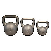 Yoga Mad PVC Kettle Bell 5Kg Silver