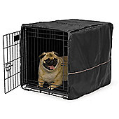 "Midwest Quiet Time Black Polyester Dog Crate Cover - 60.96cm (24"")"