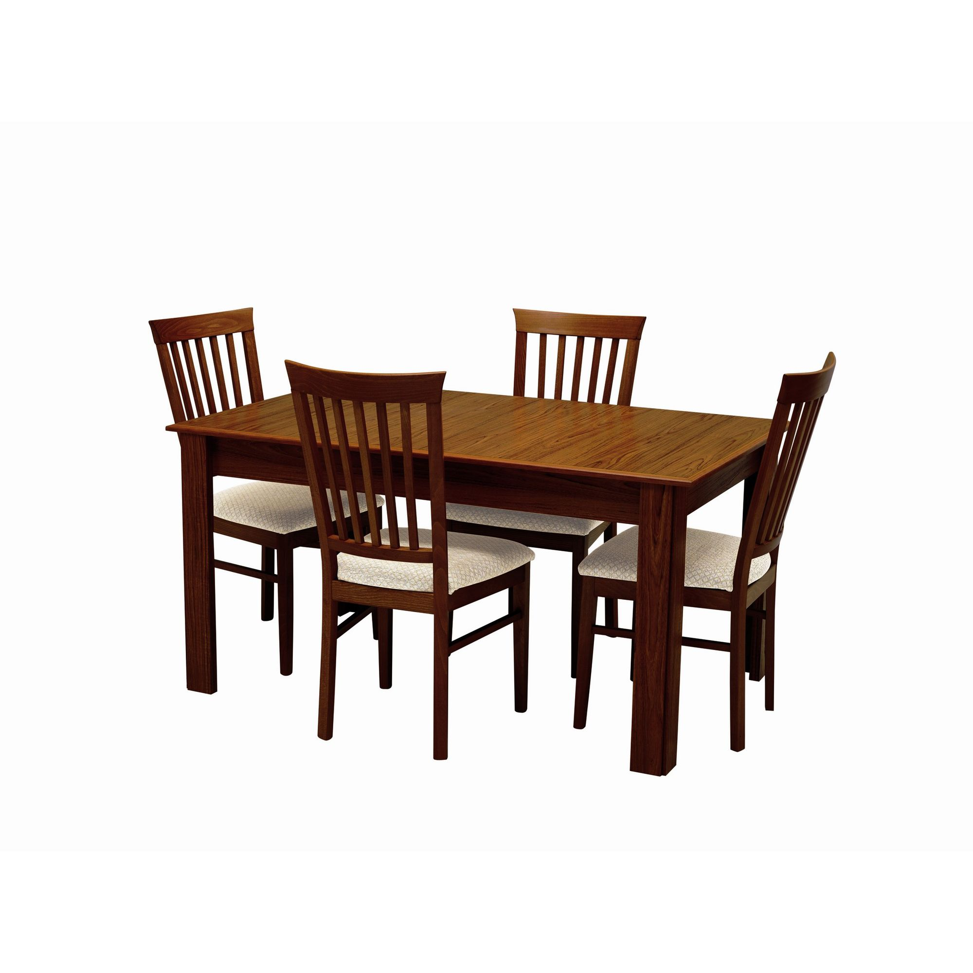 Caxton Byron Extending Dining Set with Slatted Back Dining Chairs in Mahogany - Oyster at Tesco Direct