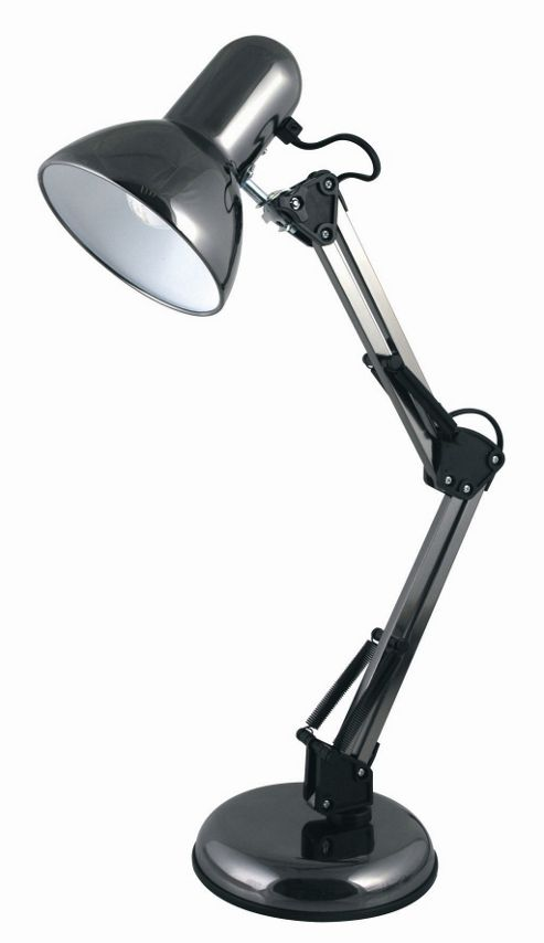 Home Essence Hobby 40W Desk Lamp in Black Chrome